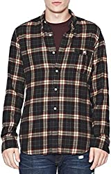 French Connection Men's Multi Check Long Sleeve Shirt