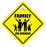 Family On Board Car Sign Waving Baby on Board Car Sign Baby on Board Baby Sign Car Signs Baby Sign Baby Car Sign Baby On Board Style Bumper Stcicker Decal