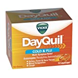 Vicks Dayquil Cold & Flu Multi-Symptom Relief Liquicaps 72 Count