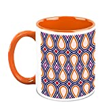 HomeSoGood Continuous Oval Structures Coffee Mug