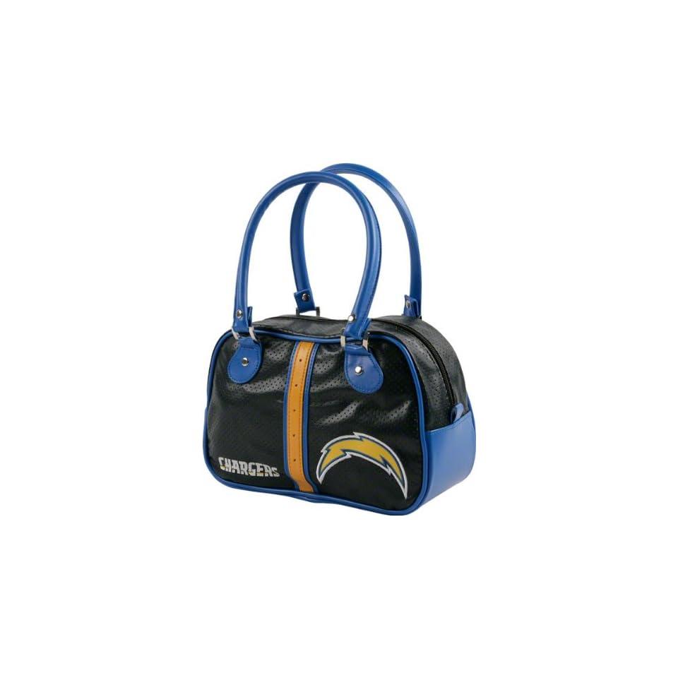 San Diego Chargers Black Bowler Bag Purse