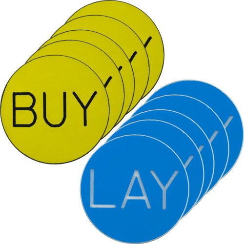 Buy Discount Trademark Poker Buy/Lay Chip Button for Craps, Set of 10