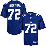 Reebok New York Giants Youth #72 Osi Umenyiora Royal Blue Premier Tackle Twill Football Jersey