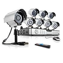 ZMODO 16Channel DVR Home Security Camera Systemwith 8pcs 600TVL Day/Night Weatherproof Hi-Resolution CCTV Surveillance Cameras No Hard Drive
