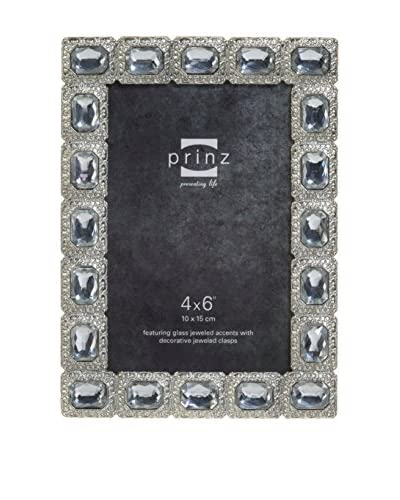 Prinz All That Glitters Antique Silver Large Jewel Frame, 4″ x 6″