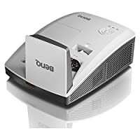 BenQ MW853UST+ Ultra-Short Throw Projector WXGA 1280 X800  3200 Lumens with 2 X HDMI and Wall Mount Projector<br />