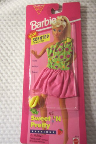 Barbie Sweet'n Pretty Fashions Tutti Frutti Scenti Green Swirl Dress by Mattel - 1