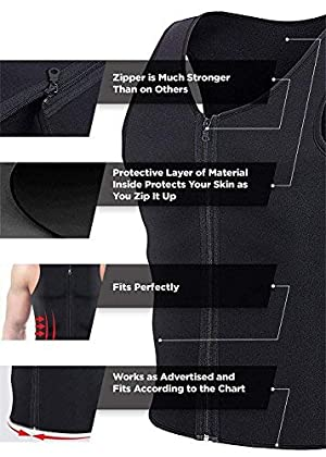b59c8422c2  Newest Effective  Mens Waist Trainer Vest for Weightloss Hot Neoprene  Corset Body Shaper Zipper Sauna Tank ...