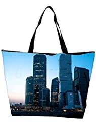 Snoogg Abstract Buildings Designer Waterproof Bag Made Of High Strength Nylon - B01I1KNBT2