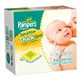 SAVE $8.91 - Pampers Sensitive Thick Care Wipes Refill, 180-Count Pouches (Pack of 4) (720 Wipes) $21.08