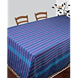 Dhrohar Hand Woven Blue Cotton Table Cover For 4 Seater Table
