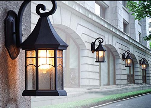 BAYCHEER HL409901 Industrial Retro Style Aged Pewter Brushed waterproof Outdoor Wall Light Wall Sconce with 1 Light 2