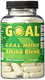 GOAL - G.O.A.L. MATRIX Amino Acids Complex Pills 90 Caplets Best NO Supplement Tablets L-Glycine L-Ornithine L-Arginine L-Lysine Combination Anti-Aging Blend Nitric Oxide Boosters for Men and Women