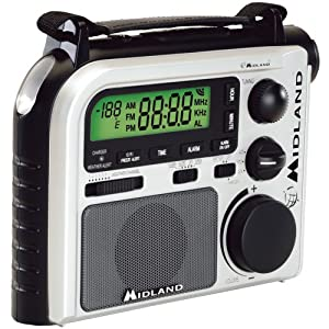 MIDLAND ER102 7-CHANNEL EMERGENCY CRANK RADIO WITH AM/FM/WEATHER ALERT (BLACK & WHITE) MIDLAND ER10