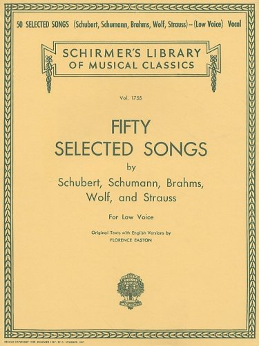50 Selected Songs by Schubert, Schumann, Brahms, Wolf and...