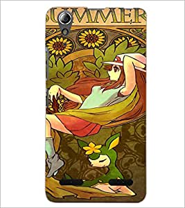PrintDhaba Cartoon D-3160 Back Case Cover for LENOVO A6000 (Multi-Coloured)