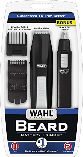 whal beard trimmer kit ear nose brow cutting grooming cordless battery combs. Black Bedroom Furniture Sets. Home Design Ideas