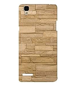 EPICCASE cream brick wall Mobile Back Case Cover For Oppo F1 (Designer Case)