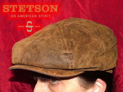 Brown Stetson Flat Hat/Burney/Baker boy (Small)