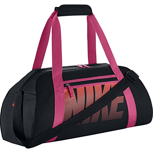 Nike Women'S Gym Club Borsone, Nero/Vivid Pink/Bright Mango, Taglia Unica