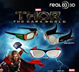 Thor 2 : The Dark World RealD 3d Glasses - Set of 3