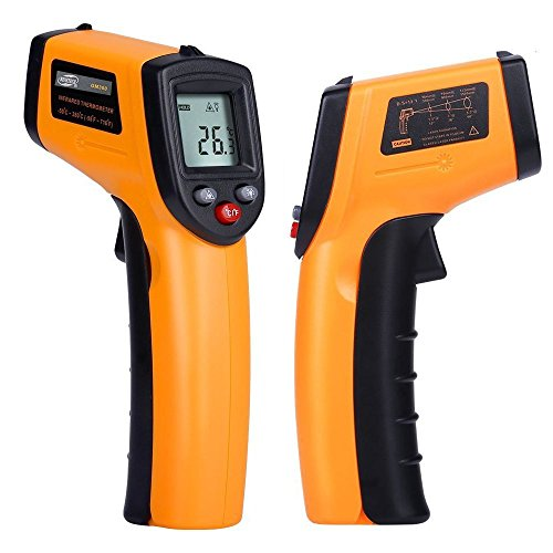 Szxhf Digital Infrared Thermometer, Non-Contact Laser IR Temperature Gun Instant-read with Emissivity 0.95(fixed) Range -50 to 380℃(-58 to 716℉) (Air Conditioning Thermometer compare prices)