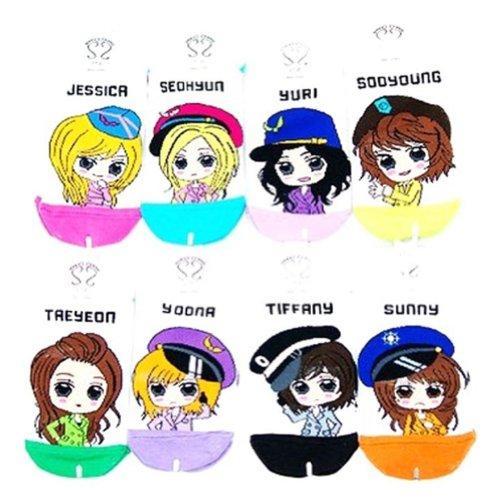 SNSD Girls Generation Genie Socks 8 Pairs (White Version