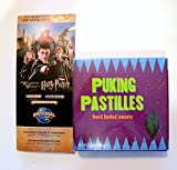 Universal Studios Wizarding World of Harry Potter diagon alley puking pastilles hard boiled sweets wizarding weasleys Candy store 4.5 Oz & commemorative opening week map gift set