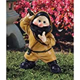 Niko The Ninja Gnome statue home garden sculpture New (The Digital Angel)
