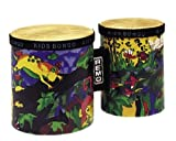 Remo Kids Percussion, Bongos, 5/6 Diameters,  Rain Forest Fabric
