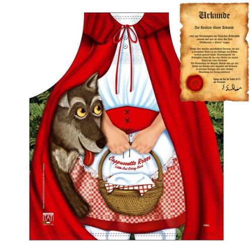 Märchen Motiv: Rotkäppchen - Fun - Schürze für Kinder one Size Fb bunt mit GRATIS Geschenk-Urkunde : )