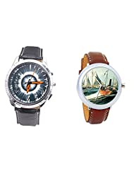 Foster's Men's Grey Dial & Foster's Women's Multicolour Dial Analog Watch Combo_ADCOMB0002326