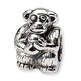 Jewelry Mountain Sterling Silver Monkey Charm Bead Fits Pandora Chamilia Biagi Bracelet
