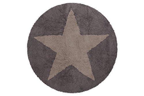 lorena canals c sr ldg reversibel runde stern teppich dunkelgrau beige. Black Bedroom Furniture Sets. Home Design Ideas