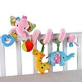 Happy cherry - Juguetes Colgantes Espiral de Animales para Cuna Cochecito Carrito beb�s ni�os ni�as arrastrar - rosa