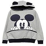 reine à la mode- Fashion Sweats à capuche de Femme Casual Mickey Mouse (M, Gris)...