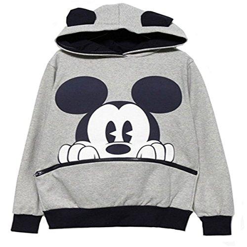 reine-a-la-mode-fashion-sweats-a-capuche-de-femme-casual-mickey-mouse-m-gris