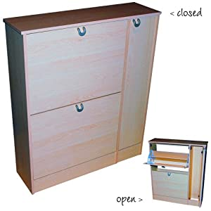 Eaton - Shoe And General Hallway Storage Cupboard - Beech