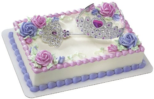 Queen Crown and Sceptor DecoSet Cake Decoration - 1