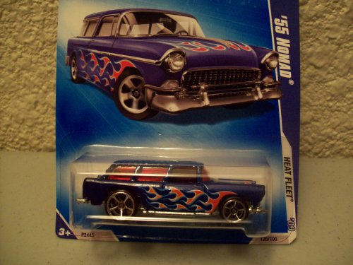 Hot Wheels 2009 Heat Fleet Blue 1955 Nomad - 1