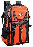 大容量 60L  登山用  山登り リュック かっこいい サック バック パック 防災グッズ アウトドア (オレンジ)