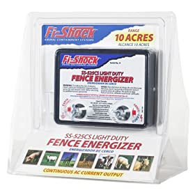 Fi-Shock SS-525CS AC Powered Light-Duty Electric Fence Energizer 10-Acre Range
