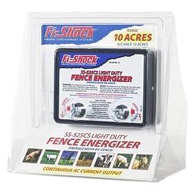 Fi-Shock SS-525CS AC Powered Light-Duty Electric Fence Energizer 10-Acre Range