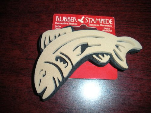 Rubber Stampede Trout Rubber Stamp (#72054)