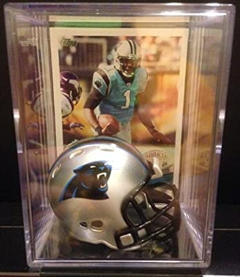 Carolina Panthers NFL Helmet Shadowbox w/ Cam Newton card
