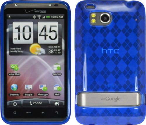 Premium Tpu Flex Gel Skin Case Cover For Htc Thunderbolt 4G 6400 Verizon Blue