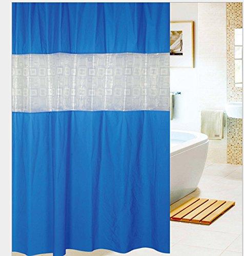 Eforgift Eco-Friendly Peva Non-Mildew Shower Curtains Decor Bathroom Curtain For Kids 72 Inches (Dark Blue) front-621796