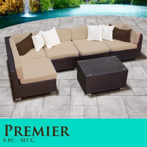 jkabiasd best review premier modern 6 piece outdoor wicker patio sofa sectional furniture all. Black Bedroom Furniture Sets. Home Design Ideas