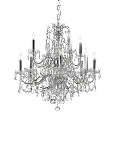Gold Coast Lighting Solid Brass Chandelier, Polished Chrome