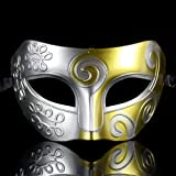 Melody Retro Roman gladiator Halloween party masks Mardi Gras Masquerade mask- silver & gold
